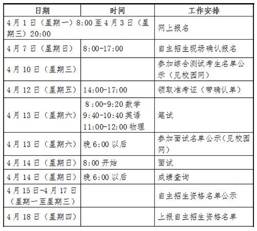 青岛三中自主招生时间安排