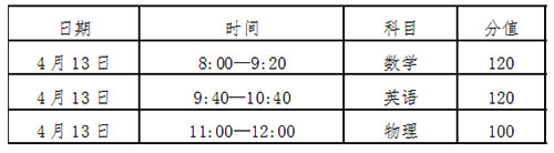 青岛三中自主招生笔试时间